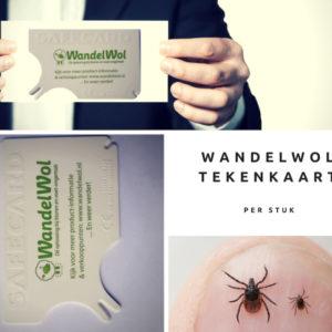 WandelWol Tekenkaart voor het verwijderen van teken