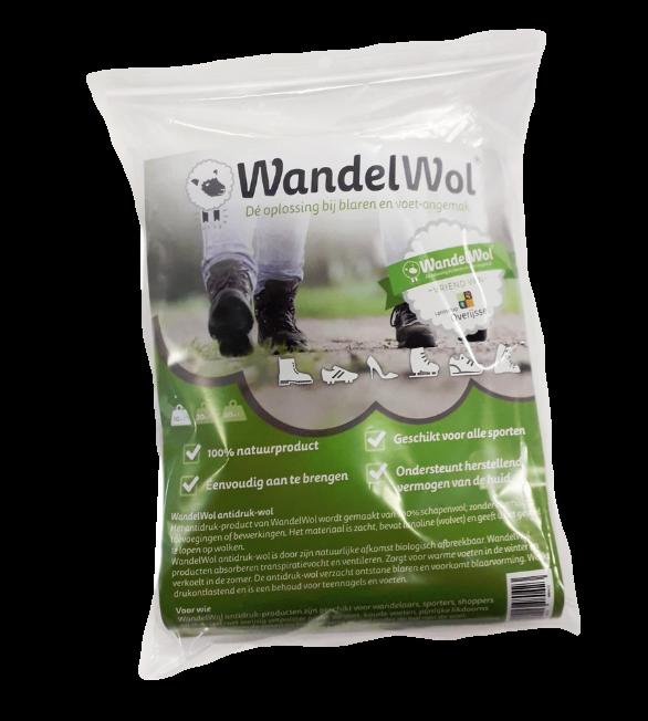WandelWol voor wandelaars en sporters met pijnlijke voeten